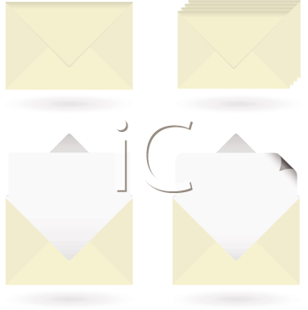 Royalty Free Clipart Image of Envelopes