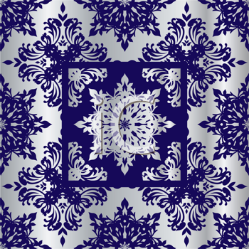 Royalty Free Clipart Image of a Silver and Blue Background