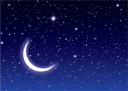 Nights sky with moon and stars ideal desktop or background