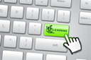 Royalty Free Clipart Image of a Keyboard With a Learning Button