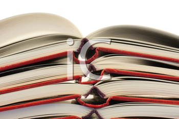 Royalty Free Photo of a Stack of Open Books