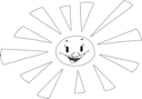 Royalty Free Clipart Image of a Sunny Sun
