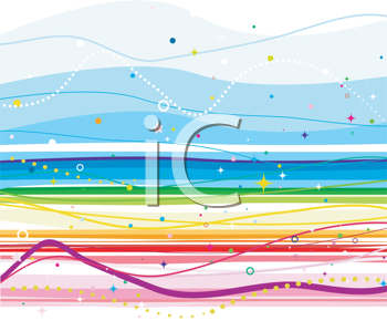 Royalty Free Clipart Image of a Rainbow Background