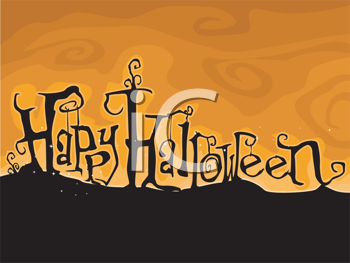 Royalty Free Clipart Image of a Halloween Greeting