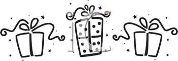 Royalty Free Clipart Image of Gifts