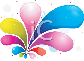 Royalty Free Clipart Image of an Abstract Rainbow Coloured Background