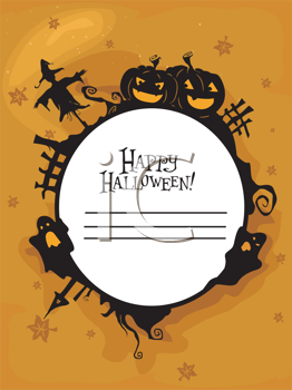 Royalty Free Clipart Image of a Happy Halloween Greeting