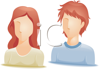 Royalty Free Clipart Image of Faceless Redheads