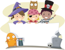 Banner Illustration with a Halloween Theme