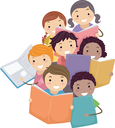 Royalty Free Clipart Image of Children Singing