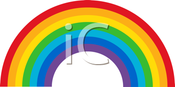 Royalty Free Clipart Image of a Multicoloured Spectrum
