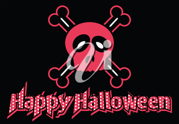 Royalty Free Clipart Image of a Happy Halloween Background