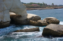 The white chalk cliffs of Rosh ha-Hanikra on Israel's northern border