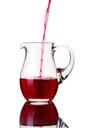 Glass pitcher, isolated on a white background.