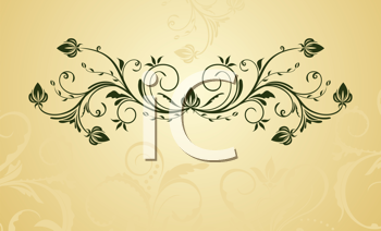 Royalty Free Clipart Image of a Leafy Design
