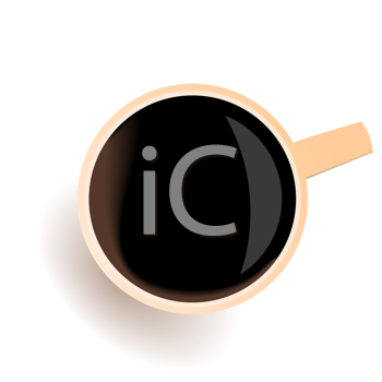 Royalty Free Clipart Image of a Cup of Coffee