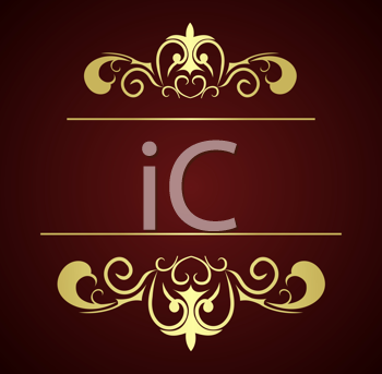 Royalty Free Clipart Image of a Luxury Background