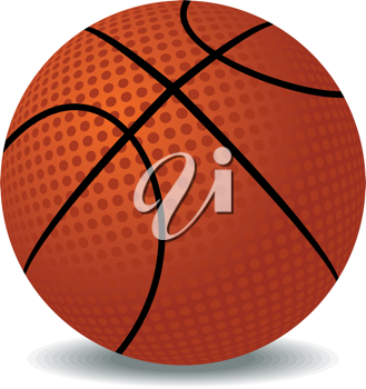 Realistic illustration of basket ball isolated on white background - vector