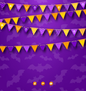 Illustration Halloween Party Background with Bunting - Vector