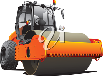 Detailed vectorial image of orange roller, isolated on white background. File contains gradients. No strokes and blends.
