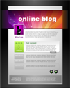 Royalty Free Clipart Image of a Blog Web Page Template