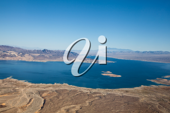 Royalty Free Photo of an Aerial View of Lake Mead