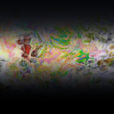 Abstract artistic Background forming by blots of paints