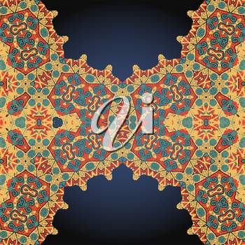 Ethnic ornament. Template for menu, greeting card, invitation or cover