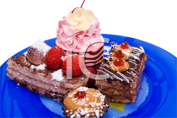 Royalty Free Photo of a Plate of Desserts