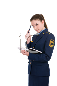 Royalty Free Photo of a Woman in a Uniform