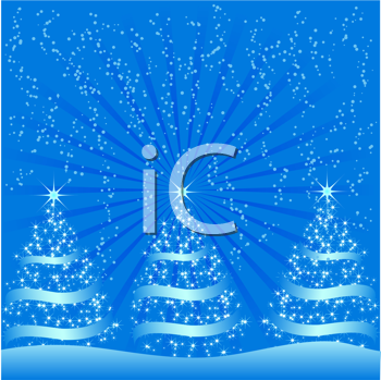 Royalty Free Clipart Image of a Festive Christmas Background