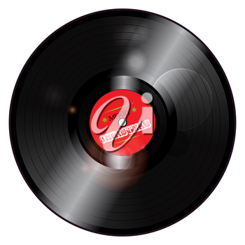 3D Christmas Record Vinyl with Glowing Lights