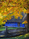 Royalty Free Photo of a House in the Western Carpathian Region of Ukraine