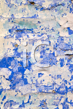 Royalty Free Photo of Peeling Paint on a Wall