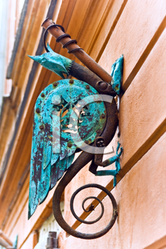Royalty Free Photo of a Decorative Griffin With an Eagle Head