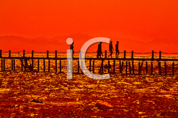 Royalty Free Photo of the Sunset on the Shores of the Red Sea
