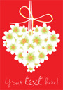 Royalty Free Clipart Image of a Floral Heart Greeting Card