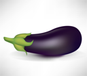 Royalty Free Clipart Image of an Eggplant