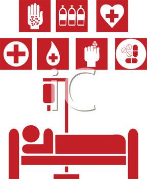 Royalty Free Clipart Image of Medical Signs