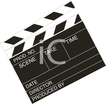 Royalty Free Clipart Image of a Clapperboard