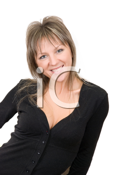 Royalty Free Photo of a Blonde Woman Smiling