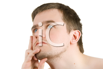 Royalty Free Photo of a Portrait of a Man Thinking