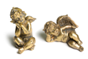 Bronze figure of cupids isolated on a white