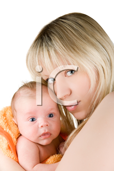 Royalty Free Photo of a Mother Holding Her Son