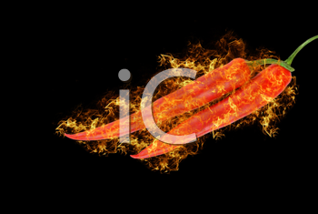 Royalty Free Photo of Red Hot Chili Peppers