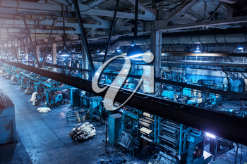 Industrial zone background, manufacturing facility