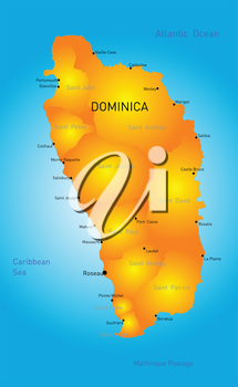 Vector color map of Dominica country