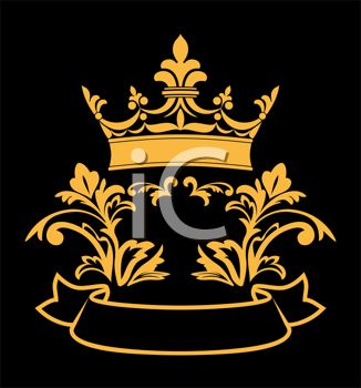 Royalty Free Clipart Image of a Heraldic Crown