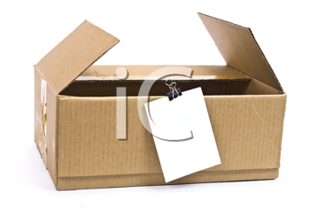 Royalty Free Photo of a Cardboard Box