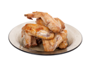 Royalty Free Photo of Fried Chicken Wings on a Plate
